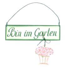 Cassetta Holzschild Bin im Garten 3