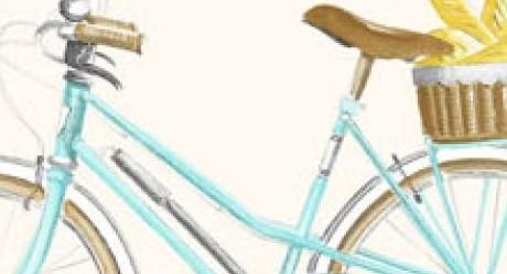 THEVENON Stoff La Cassetta A BICYCLETTE 2 Stoff Fahrrad