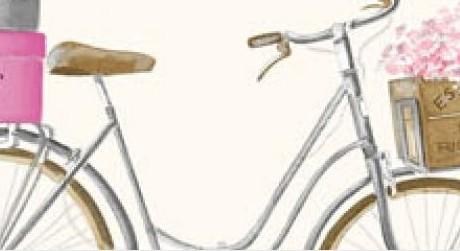 THEVENON Stoff La Cassetta A BICYCLETTE 3 Stoff Fahrrad