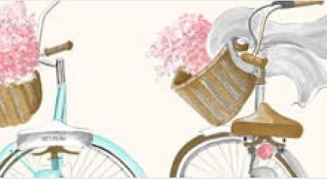 THEVENON Stoff La Cassetta A BICYCLETTE 4 Stoff Fahrrad
