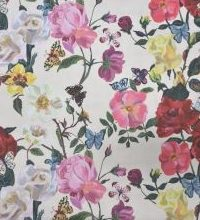 THEVENON Stoff La Cassetta VILLA DES ROSES 1 Stoff Blume Rose Frühling