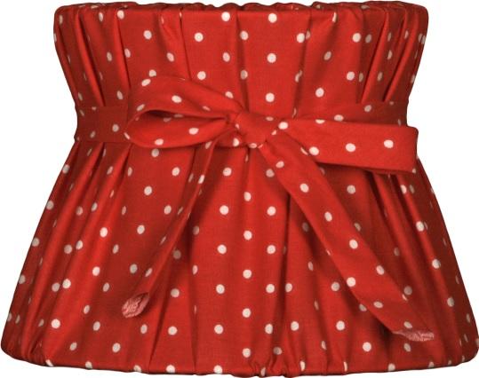 nordika lampenschirm mpo r3 landhaus romantisch rot wei tupfen punkte la cassetta. Black Bedroom Furniture Sets. Home Design Ideas