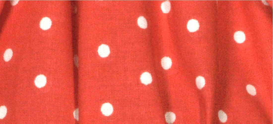 NORDIKA Lampenschirm gebunden rot weiß Tupfen Punkte MPO R3 2
