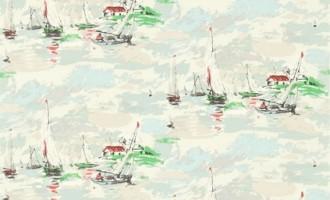 SANDERSON UK Stoff SAIL AWAY Boote Segeln Maritim 1