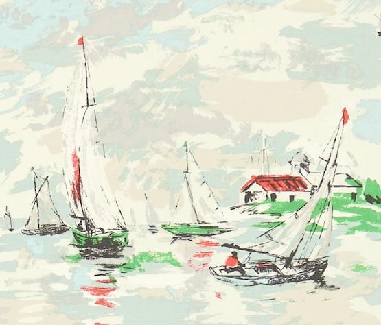 SANDERSON UK Stoff SAIL AWAY Boote Segeln Maritim 2