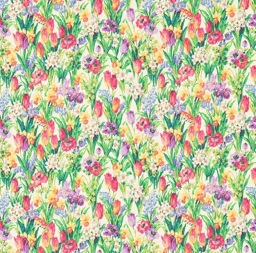 SANDERSON UK Stoff SALAD DAYS Frühling Blumen Wiese 1