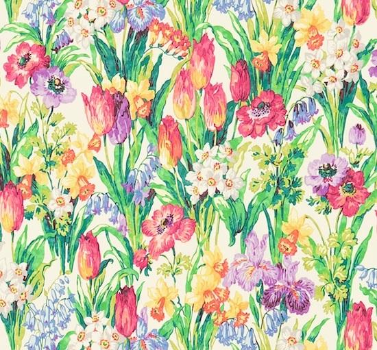 SANDERSON UK Stoff SALAD DAYS Frühling Blumen Wiese 2