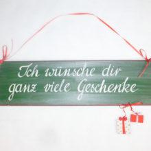 Holzschild Weihnachten Geschenke La Cassetta