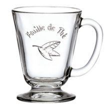 La Rochere Teeglas mug Teeblatt FEUILLE DE THE 1