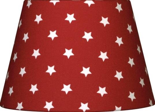 NORDIKA Lampenschirm glatt Sterne rot weiss ASR K3 1