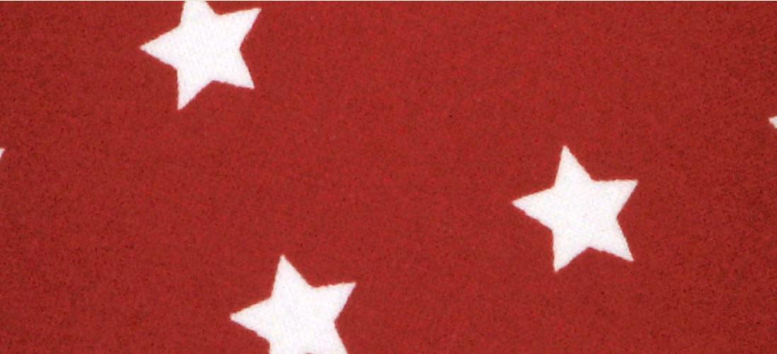 NORDIKA Lampenschirm glatt Sterne rot weiss ASR K3 2