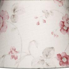 NORDIKA Lampenschirm glatt Blumen rosarot grau weiss CAR M3 1
