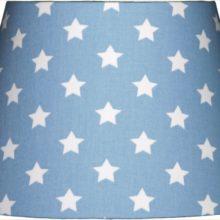 NORDIKA Lampenschirm glatt Sterne blau weiss RSB K3 1