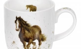 Royal Worcester WRENDALE Mug Tasse Pferd La Cassetta