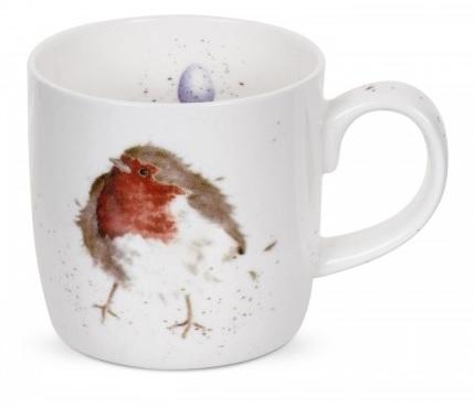 Royal Worcester WRENDALE Mug Tasse Rotkehlchen Vogel La Cassetta