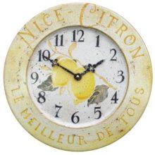 Wanduhr Metall CITRON Zitronen Roger Lascelles La Cassetta