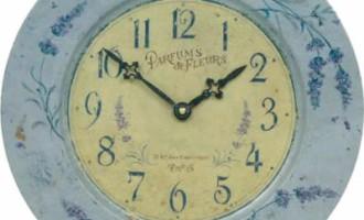 Wanduhr Metall PARFUMS Lavendel Roger Lascelles La Cassetta
