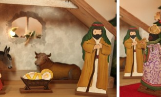 Holzdeko Aufsteller Krippe Weihnachten La Cassetta 1