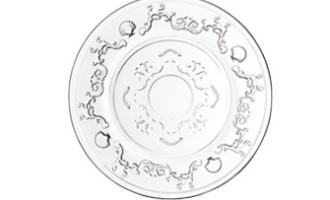 La Rochere Glas Teller Brot VERSAILLES Muschel Ranken La Cassetta