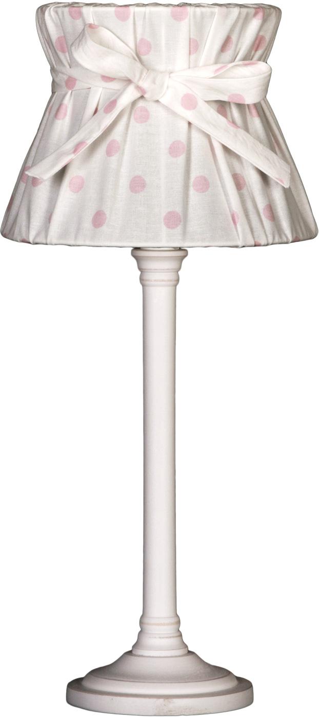 NORDIKA Lampenschirm gebunden Punkte rosa APHR R3 3
