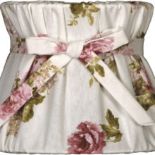 NORDIKA Lampenschirm gebunden Rosen weiss rosa grün BBW R3 1