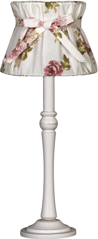 NORDIKA Lampenschirm gebunden Rosen weiss rosa grün BBW R3 3