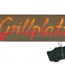 Holzschild Grillplatz Barbecue Grillen