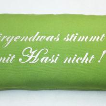 Kissenhülle WAS IST MIT HASI LOS Ostern Wiese Frühling Steen Design La Cassetta