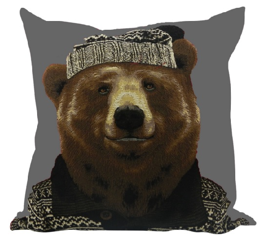 kissen gobelin nordic hirsch kissen hirsch winter la cassetta. Black Bedroom Furniture Sets. Home Design Ideas