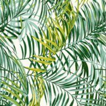 THEVENON Stoff PALM SPRINGS Palmen grün La Cassetta 1