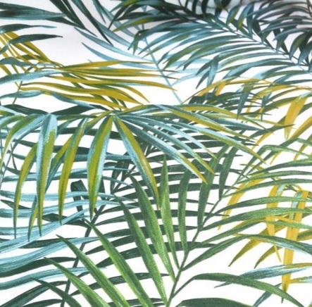 THEVENON Stoff PALM SPRINGS Palmen grün La Cassetta 2