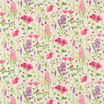 Meterstoff SANDERSON UK SPRING FLOWERS Englisch Frühling Hyazinthen 1