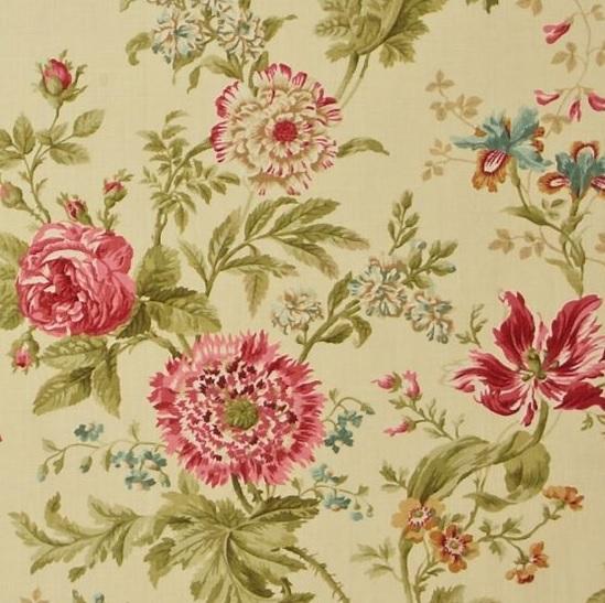 SANDERSON UK ELOUISE willow pink 2 Stoff Englische Wiese Wildblumen La Cassetta
