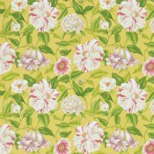 SANDERSON UK FLOREANNA yellow 2 Stoff Hibiskusblüten gelb La Cassetta