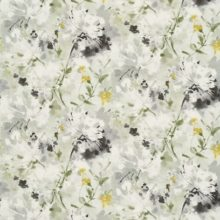SANDERSON UK SIMI grey pearl 1 Aquarell Blüten gelb silber grau La Cassetta