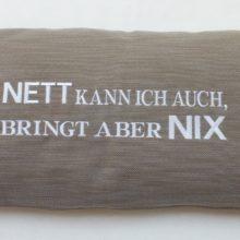Kissenhülle BRIX taupe Stick NETT KANN ICH AUCH Steen Design La Cassetta