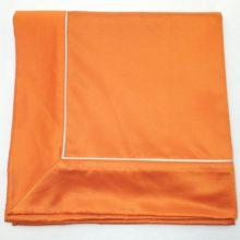 Tischdecke mit Ansatz und Biese SATIN orange Steen Design La Cassetta 1
