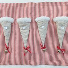 Adventskalender 1,2,3,4 Wandbehang Stoff zum Befüllen Deko La Cassetta