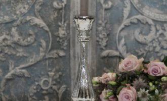 Bauernsilber Kerzenleuchter Stab silber antik 2 La Cassetta