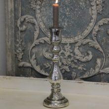 Bauernsilber Kerzenleuchter Stabkerzen silber antik JAN La Cassetta