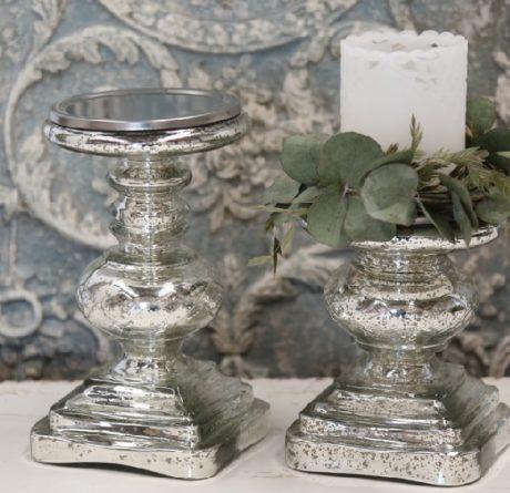 Bauernsilber Kerzenleuchter Stumpenkerzen silber antik La Cassetta