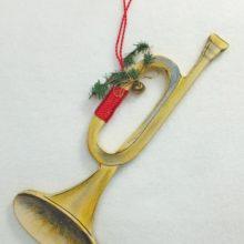 Holzdeko Trompete Advent Weihnachten Landhausstil La Cassetta