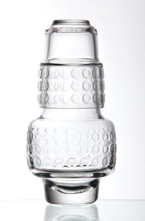 La Rochere Wasser Glas carafe gobelet BOSTON RONDO aufeinander stapelbar