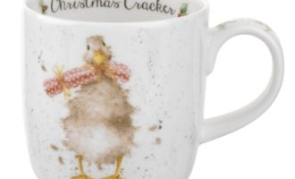 Royal Worcester WRENDALE Christmas Cracker Mug Tasse Weihnachten Gans La Cassetta