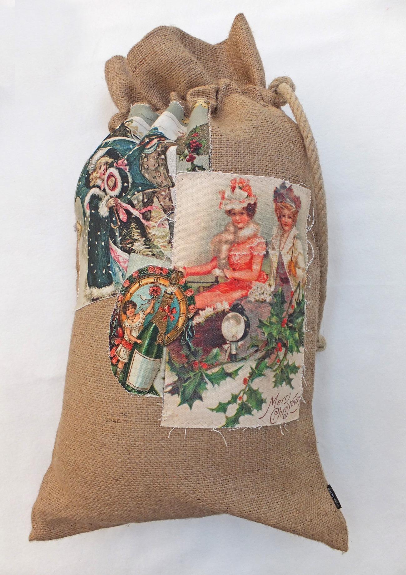 sack punsch jutesack f r geschenke weihnachten la cassetta. Black Bedroom Furniture Sets. Home Design Ideas
