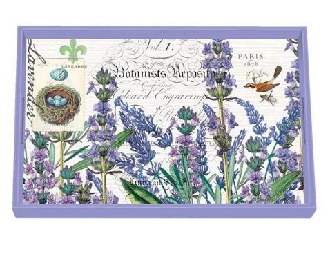 Tablett MICHEL DESIGN WORKS klein LAVENDER ROSEMARY Lavendel Rosmarin