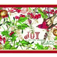 Tablett MICHEL DESIGN WORKS klein MISTLETOE and HOLLY Weihnachten