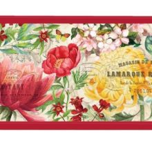 Tablett MICHEL DESIGN WORKS klein MORNING BLOSSOMS Blumen rot gelb