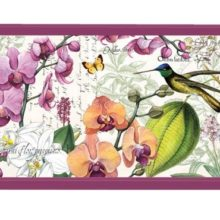 Tablett MICHEL DESIGN WORKS klein ORCHIDS IN BLOOM Orchideen