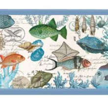 Tablett MICHEL DESIGN WORKS klein SEA LIFE Fische Muscheln Korallen